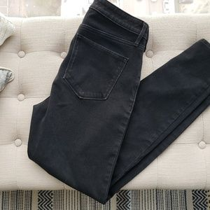 Old Navy rockstar skinny high rise black jeans